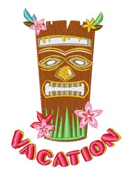 Vacation Tiki Lounge embroidery design