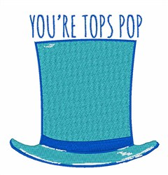 Tops Pop embroidery design