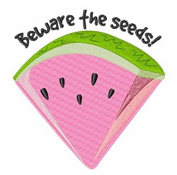 Beware the Seeds embroidery design