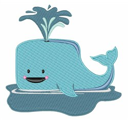 Ocean Whale embroidery design