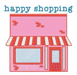 Happy Shopping embroidery design