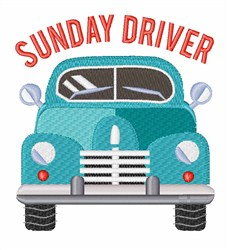 Sunday Driver embroidery design