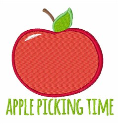 Apple Picking Time embroidery design