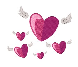 Angel Hearts embroidery design