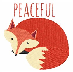 Peaceful Fox embroidery design