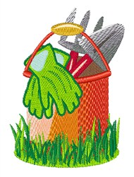 Gardening Pail embroidery design