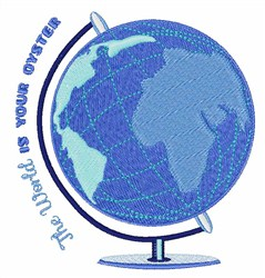 Oyster Globe embroidery design