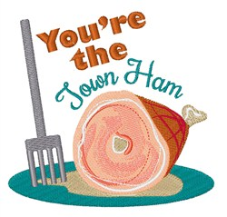Town Ham embroidery design