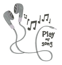Play My Song embroidery design