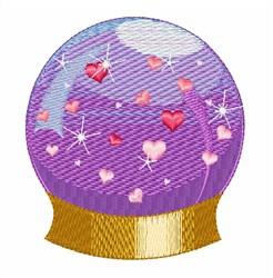 Heart Snowglobe embroidery design