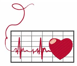Love Cardiogram embroidery design