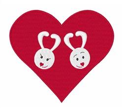Bunny Valentine embroidery design