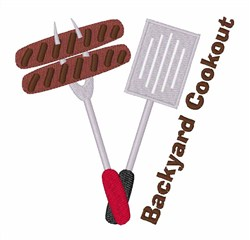 Backyard Cookout embroidery design