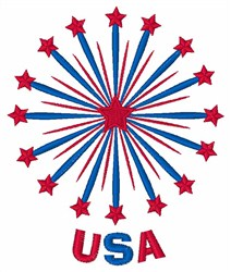 USA Stars embroidery design