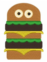 Silly Hamburger embroidery design