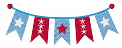 Patriotic Banner embroidery design