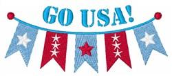 Go USA embroidery design