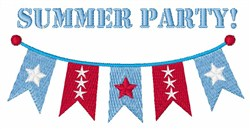Summer Party embroidery design