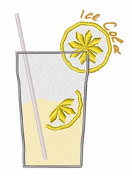 Ice Cold Lemonade embroidery design