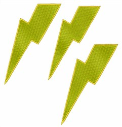 Lightning Bolts embroidery design