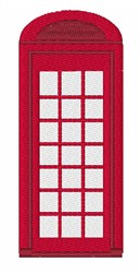 British Phonebooth embroidery design