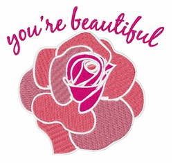Youre Beautiful embroidery design