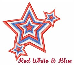Red White And Blue embroidery design