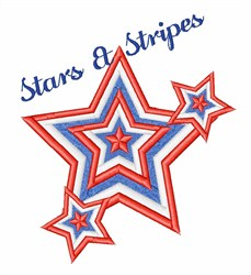 Stars & Stripes embroidery design
