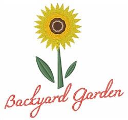 Backyard Garden embroidery design