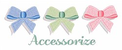 Accessorize embroidery design