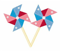 Patriotic Pinwheel embroidery design