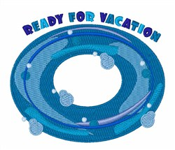 Ready For Vacation embroidery design