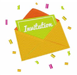 Invitation embroidery design