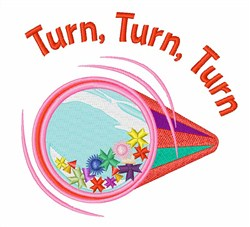 Turn Turn embroidery design