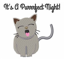 Purrfect Night embroidery design