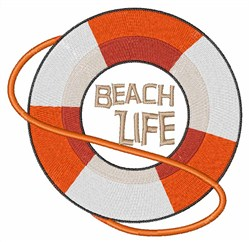 Beach Life embroidery design
