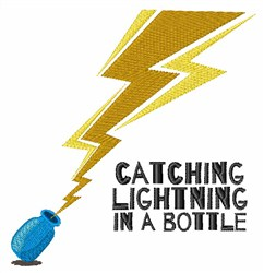 Catching Lightning embroidery design