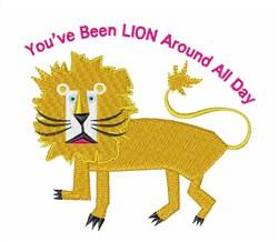 Been Lion Around embroidery design