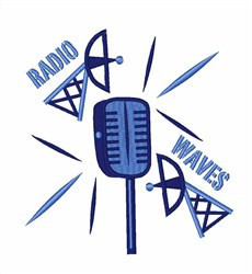 Radio Waves embroidery design