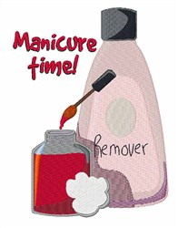 Manicure Time embroidery design