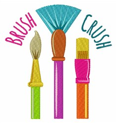 Brush Crush embroidery design