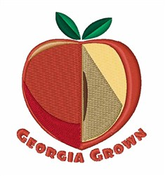 Georgia Grown embroidery design