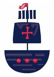 Pirate Ship embroidery design