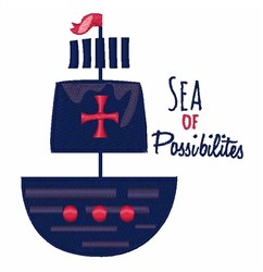 Sea Of Possibilities embroidery design