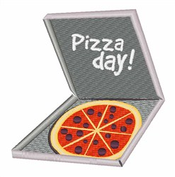 Pizza Day embroidery design