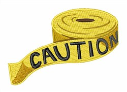 Caution Tape embroidery design