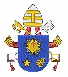 Pope Francis Heraldry embroidery design
