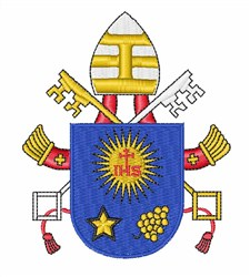Popes Heraldry embroidery design