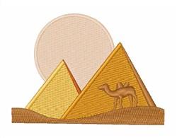 Pyramids embroidery design
