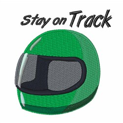 Stay On Track embroidery design